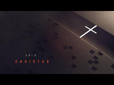 Solo Christus title design cinema 4d 5 solas five solas protestant reformation