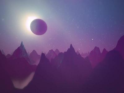 Ultraviolet c4d cinema 4d redshift purple mountains myepic eclipse landscape ultraviolet