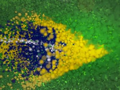 Particle Flag / Bandeira de Partículas after effects brasil brazil world country patriot soccer bandeira world cup flag particle stardust