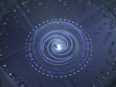FUI Experiment redshift cinema 4d after effects technology futuristic fui hud
