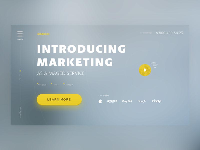 Landing Page landing page landing marketing daily ui blur button ux ui design