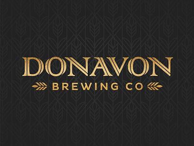 Donavon Brewing Co gold logo art nouveau nouveau brewing company brew beer brewing donavon