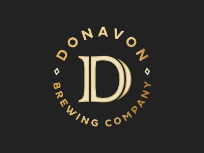 Donavon Seal stamp crest seal gold brewing company brew beer brewing donavon