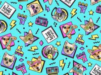 90's Pets Pattern
