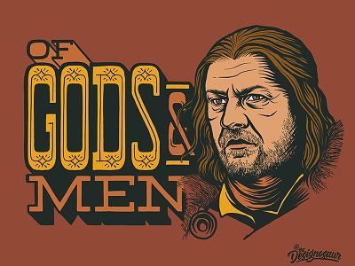 Eddard Stark season 8 eddard stark ned stark stark game of thrones portrait lettering typography illustration