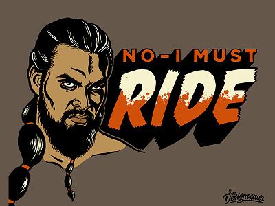 Khal Drogo portrait lettering typography illustration blood bloody game of thrones drogo khal drogo