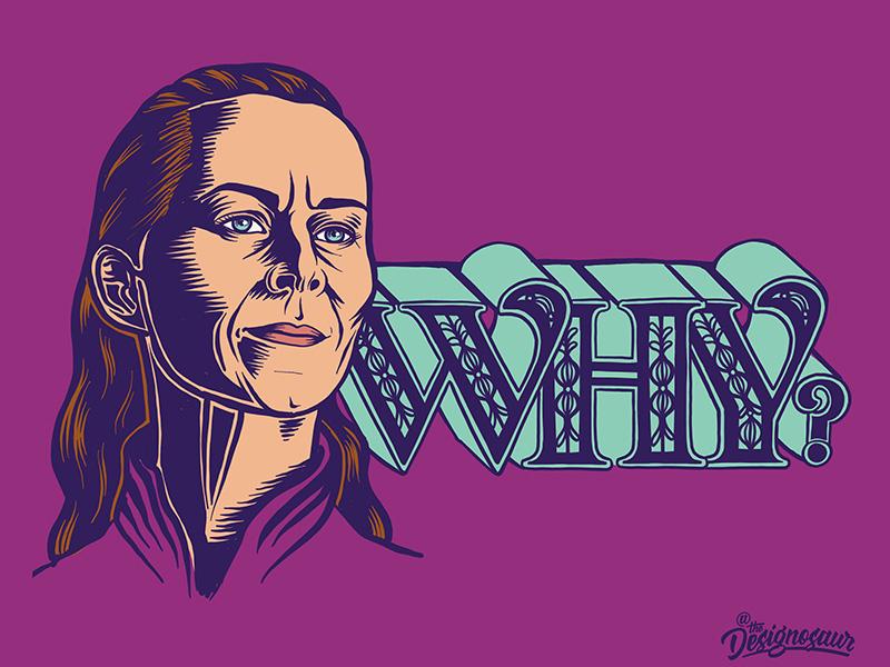 Lysa Arryn portrait lettering typography illustration game of thrones lysa arryn