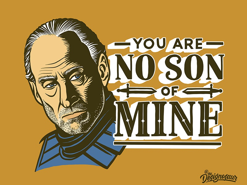 Tywin Lannister portrait lettering typography illustration season 8 tywin lannister lannister tywin game of thrones
