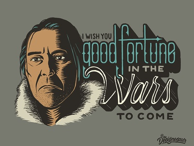 Mance Rayder portrait lettering typography illustration game of thrones mance rayder