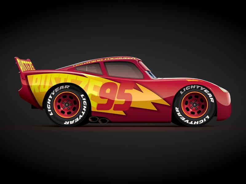 The Fabulous Lightning McQueen cars disney pixar lightning mcqueen cars 3 motorsports car art car illustrator racing vector illustration