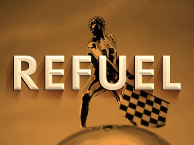 Refuel Newsletter Logo & Header indianapolis indy 500 refuel newsletter indycar racing font typography logo