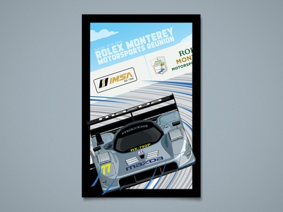 Mazda Rolex Monterey Motorsports Reunion Poster