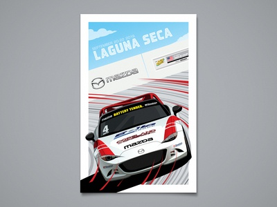 Mazda Global MX-5 Cup Laguna Seca Poster