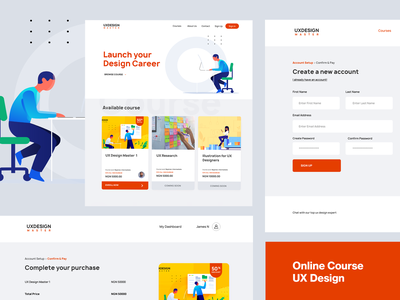 Online Learning Platform UX Design - 2 product page content management learning management system learning app online design online learning products product academy learning web design dashboard branding userxperience interaction design user interface user experience photoshop adobe xd design