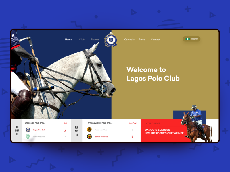 Lagos Polo Interface lagos polo polo sport app animation typography illustration transportation interaction design admin web design branding dashboard ux user interface user experience sketch adobe xd design photoshop