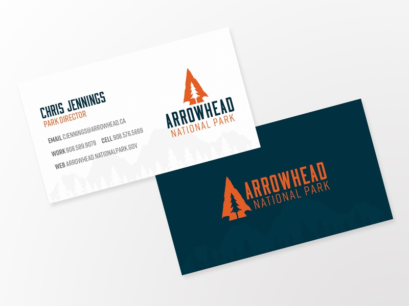 Arrowhead Business Cards by Logan Bingaman - Dribbble