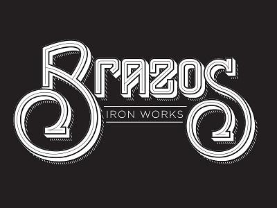 Brazos Iron Works | Concept 2 vintage lettering hand texas concepts branding logo works iron brazos