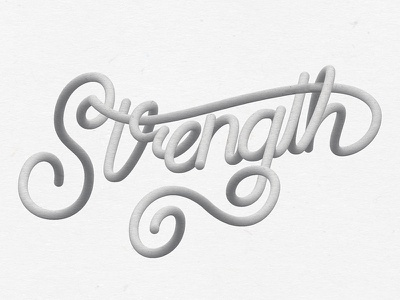 Strength resolutions year new hand tool blend illustrator lettering strength