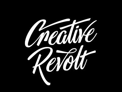 Creative Revolt vector lettering hand creativity rebellion inspiration revolt creative