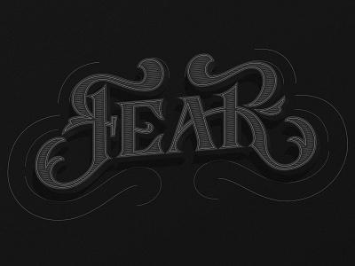 Fear negative dark series hand lettering design illustration typography vector lettering fear