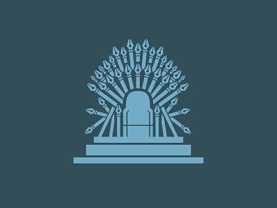 Iron Throne of Pen Tools illustration graphic pen tool vector jon snow game of thrones iron throne