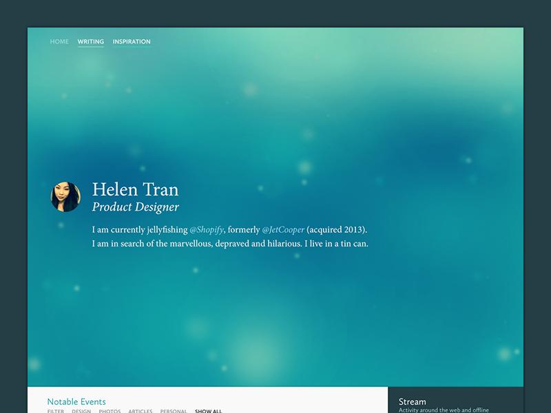 v3.0 Website Redesign redesign website portfolio timeline web ui designer