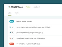 Coderwall Homepage