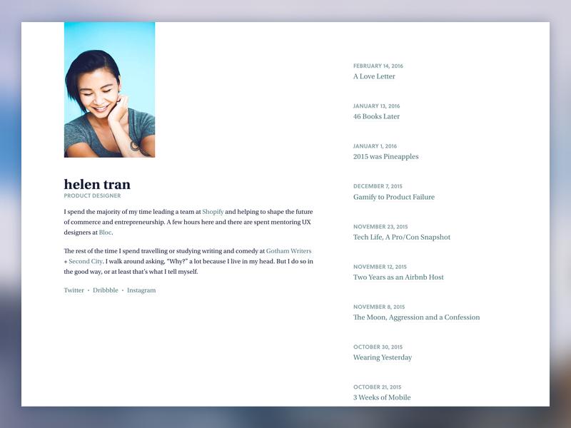 V6.0 Website Redesign responsive designer index redesign minimal blog portfolio website