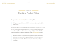Gamify to product failure