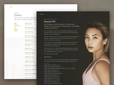 V8.0 Redesign - Subpages website typography portfolio minimal listing layout landing page index grid clean blog article