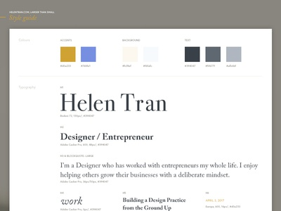 V9.0 Style Guide minimal identity guide brand elements color grid guidelines process color palette typography redesign website style guide