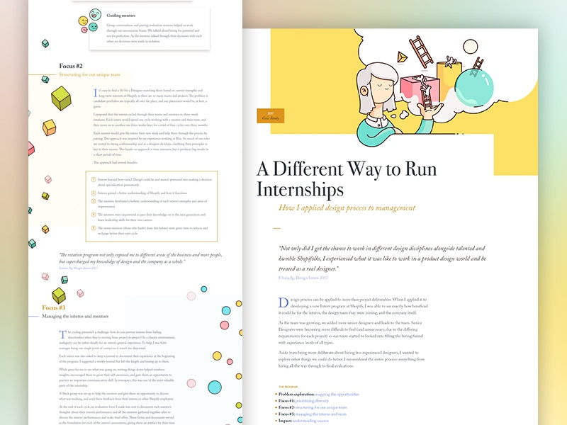 V9.0 Case Study - Internships grid layout typography clean launch portfolio motion responsive design mobile landing page website redesign