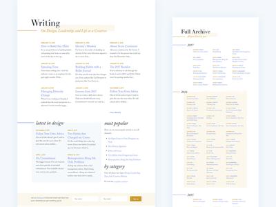 V9.0 Blog Archives redesign website landing page mobile responsive design motion archive blog clean typography layout grid
