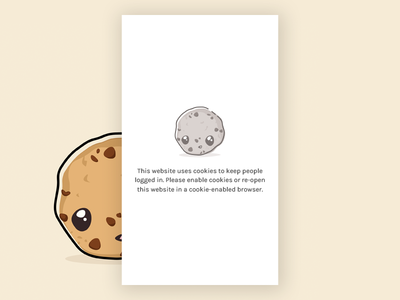 Please Enable Cookies illustration cute character character concept cookies app cookie