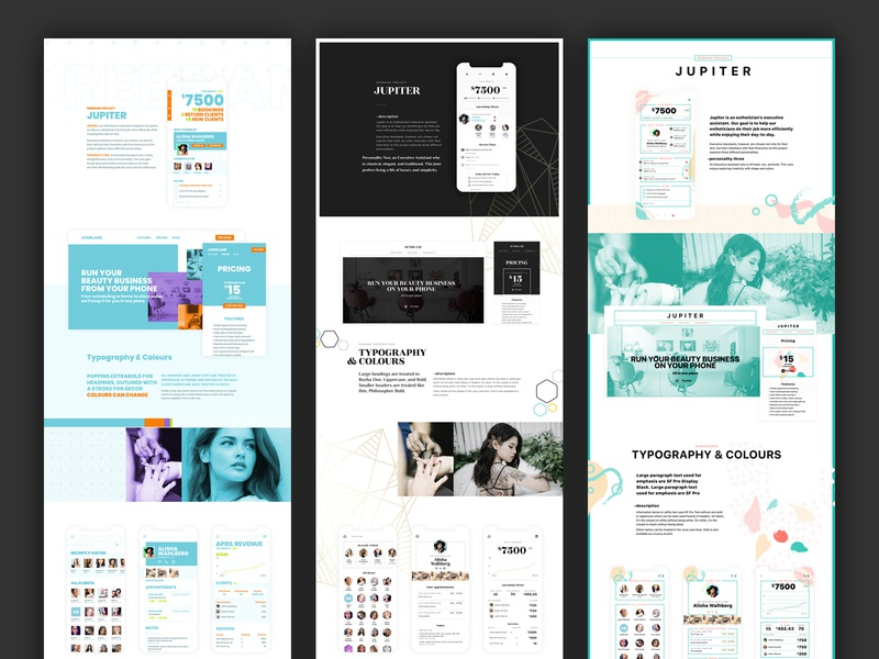 Style Explorations branding brand assets style guide layout design branding design brand website concept style exploration layout website art direction