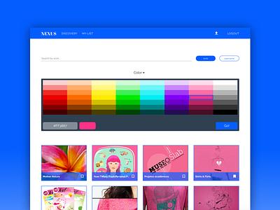 Nexus prototyping ui interface design lists nexus bookmarks getpocket behance web development web design