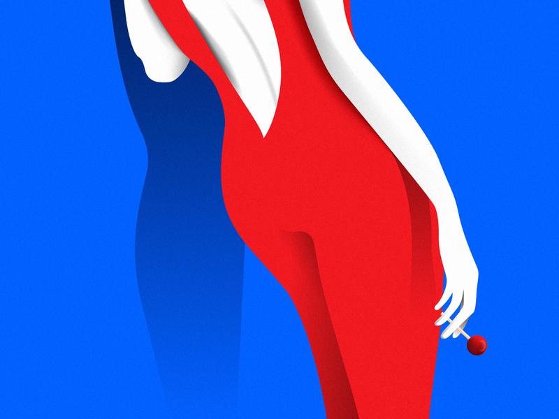 Matérialiste: Mon Amour #01 social media content flat graphic  design design vector campaign social media lollypop girl illustration agency
