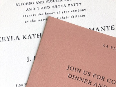 Letterpress Wedding Invitations typography design type print wedding suite invitations letterpress