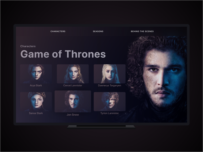 Game of Thrones (GOT) example #427: Game of Thrones TV App