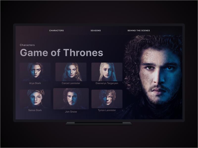 Game of Thrones (GOT) example #427: Game of Thrones TV App