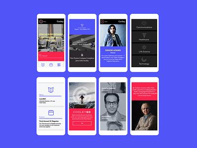 Cooley Law visual design uiux desktop tablet website design website design mobile icons ui design ux design responsive design creative direction art direction