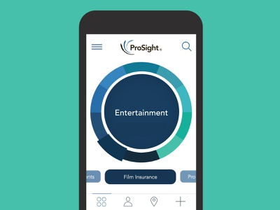 Prosight Speciality Insurance insurance insurance app app design mobile uiux mobile app design mobile ui mobile app design ui design ui mobile ux design creative direction visual design art direction app