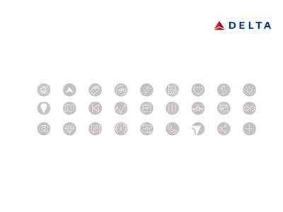Delta Airlines Employee Rewards vector art direction illustration vectors logo design visual design icon sets icons design creative direction