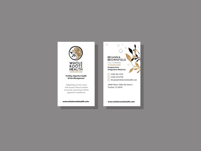 Whole Roots Health wellness gift certificate print brochure design business cards logo mark logo designer logo design brand design identity design branding design identity typography illustration logo art direction design branding visual design creative direction