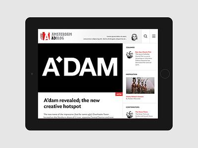 Amsterdam Ad Blog tablet web blog ad advertising amsterdam