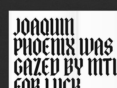 Albrecht geometric blackletter typography albrecht