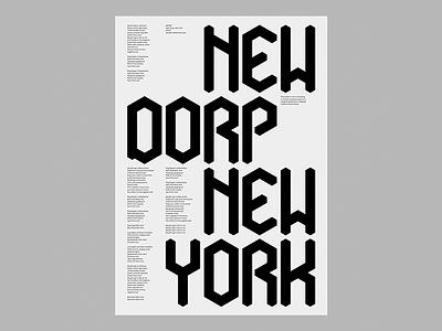 Causeway poster typography new york new dorp causeway