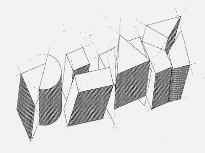 Play texture type 3d geometric lettering play