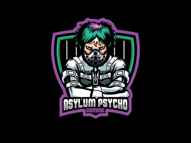 ASYLUM PSYCHO GAMING gaming logo mascot illustration gaminglogo