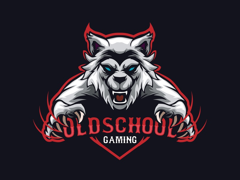 OLDSCHOOL GAMING AN OLD WOLF MASCOT wolf-em wolfpack mascot logo